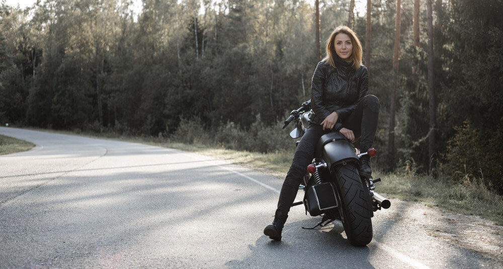 The thrill of riding a motorcycle